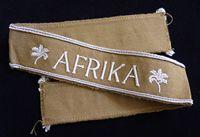 WW2 German Africa Corps Cuff Title